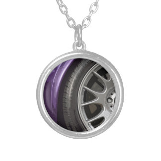 THE PURPLE SPORTS SILVER PLATED NECKLACE