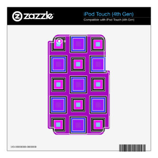 The purple squares. skins for iPod touch 4G