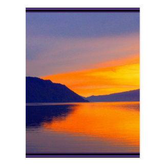 The Purple Sunset on Lake Pend Orielle Set Postcard