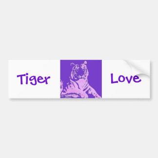 the purple tiger bumper sticker