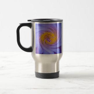 The Purple Water Lily Twirl Design Travel Mug