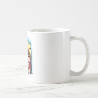 The Purr-Fect Moon and Big Eye Girl Coffee Mug