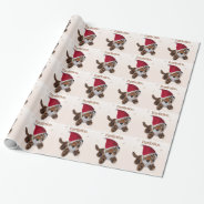 The Purrfect Christmas - Tiger In Santa Hat Wrapping Paper at Zazzle