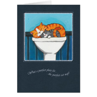 The Purrfect Place For A Cat Nap - Cat Art Card