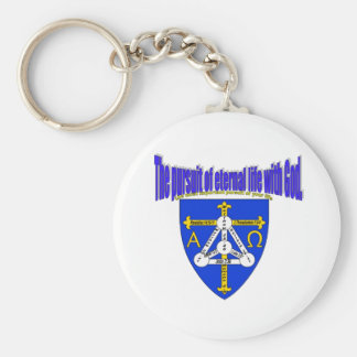 The pursuit of eternal life with God Keychain