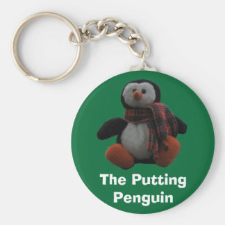 The Putting Penguin Keychain