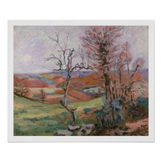 The Puy Barion at Crozant, Brittany (oil on canvas Poster