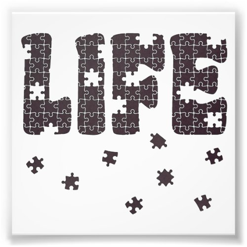 The Puzzle Of Life Photo Print