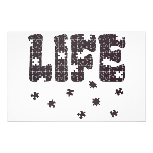 The Puzzle Of Life Customized Stationery