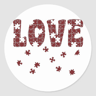 The Puzzle of Love Classic Round Sticker