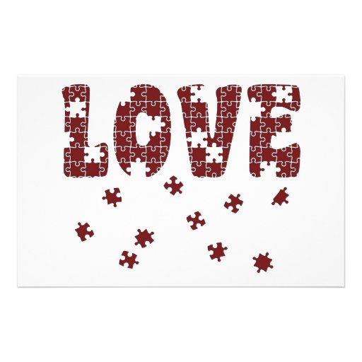 The Puzzle of Love Custom Stationery