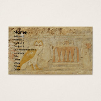 The Pyramid of Djoser , EGYPT, OWL Hieroglyphics Business Card