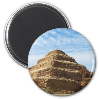 The Pyramid of Djoser - Saqqara,  Egypt 2 Inch Round Magnet