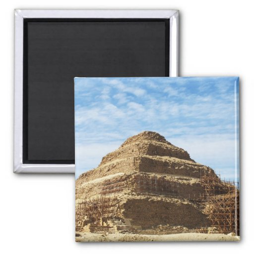The Pyramid of Djoser - Saqqara,  Egypt 2 Inch Square Magnet