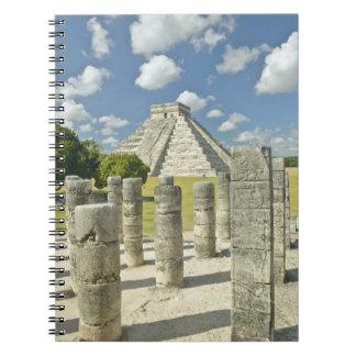 The Pyramid of Kukulkan Spiral Notebook
