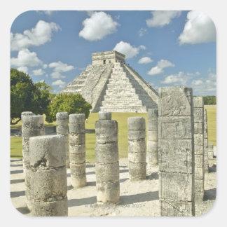 The Pyramid of Kukulkan Square Sticker