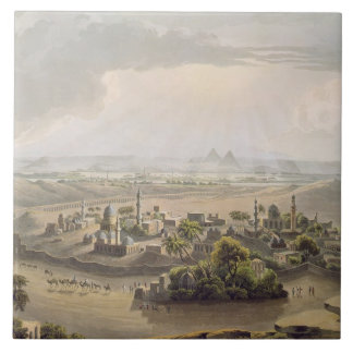 The Pyramids at Cairo, engraved by Daniel Havell ( Ceramic Tile