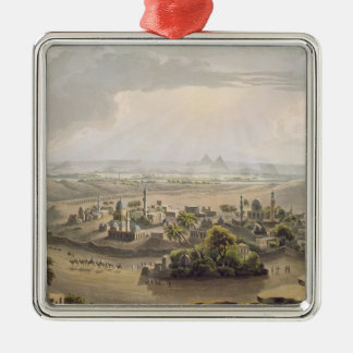 The Pyramids at Cairo, engraved by Daniel Havell ( Metal Ornament