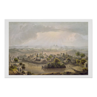 The Pyramids at Cairo, engraved by Daniel Havell ( Poster