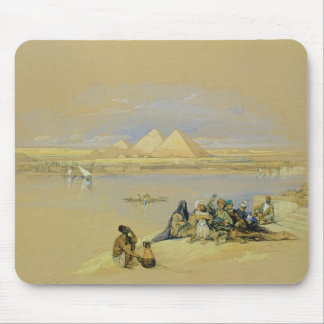 The Pyramids at Giza, near Cairo (w/c) Mouse Pad