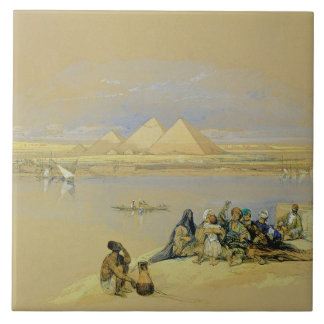 The Pyramids at Giza, near Cairo (w/c) Tile