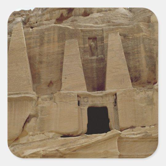 The Pyramids' Monument Square Sticker