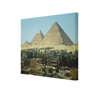The Pyramids of Giza c 2589-30 BC Old Kingdom Stretched Canvas Print