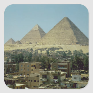 The Pyramids of Giza, c.2589-30 BC, Old Kingdom Square Sticker