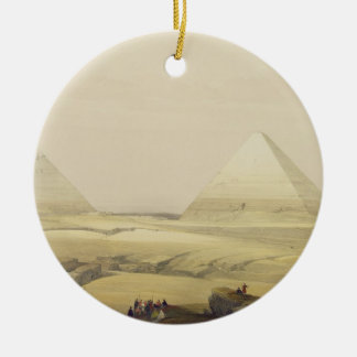 """The Pyramids of Giza, from """"Egypt and Nubia"""", Vol. Ceramic Ornament"""
