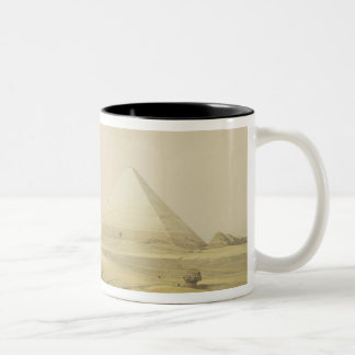 "The Pyramids of Giza, from ""Egypt and Nubia"", Vol. Two-Tone Coffee Mug"