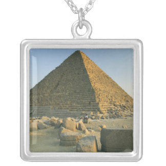The Pyramids of Giza, which are alomost 5000 2 Silver Plated Necklace
