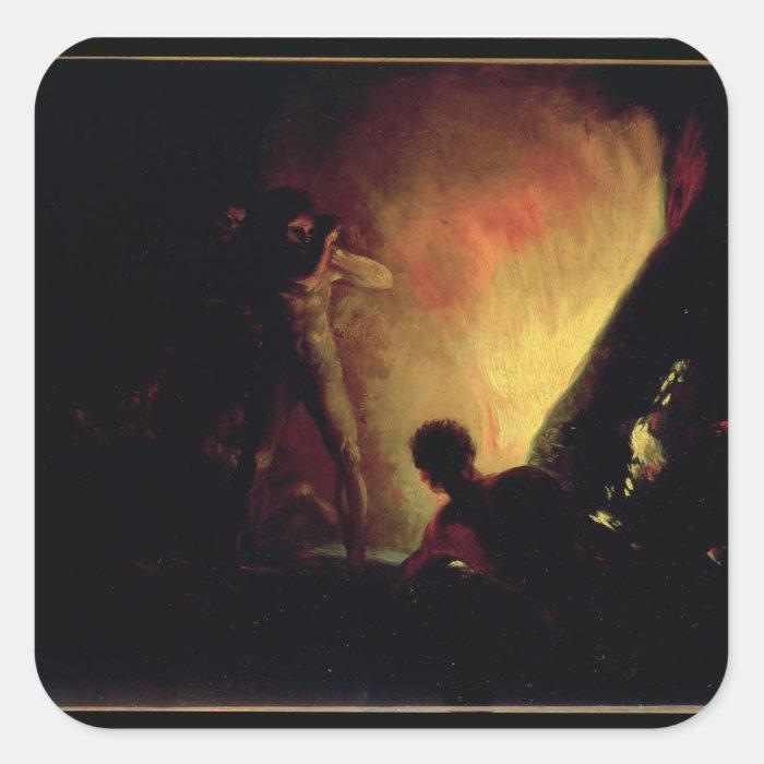 The Pyre, c.1800-05 Square Sticker