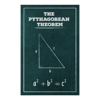 The Pythagorean Theorem Poster