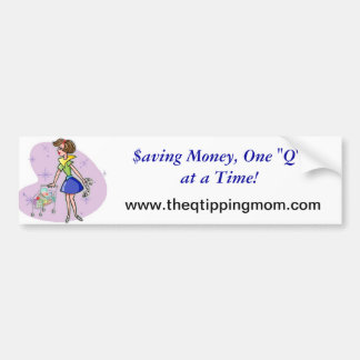 The Q-Tipping Mom Wearables Bumper Sticker