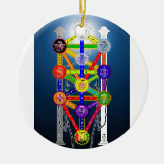 The Qabalistic Tree of Life Structure Diagram Ceramic Ornament