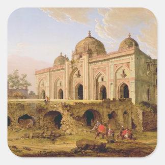 The Qal' A-l-Kuhna Masjid, Purana Qila, Delhi, c.1 Square Stickers