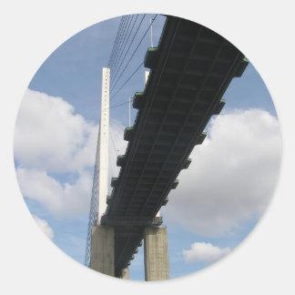 The QE2 Bridge Classic Round Sticker