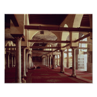The Qibla Liwan of the Mosque of Al-Azhar Poster
