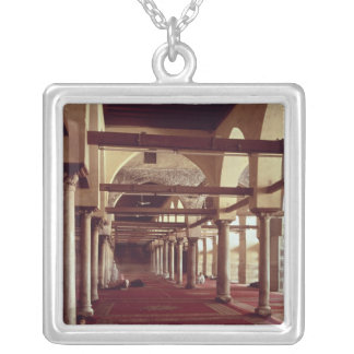 The Qibla Liwan of the Mosque of Al-Azhar Silver Plated Necklace