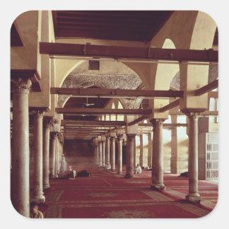 The Qibla Liwan of the Mosque of Al-Azhar Square Sticker