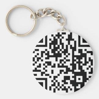 The QR Code Basic Round Button Keychain