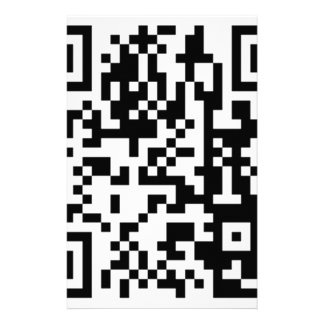 The QR Code Customized Stationery