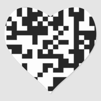 The QR Code Heart Stickers