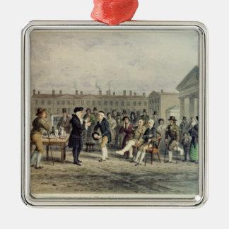 The Quack Doctor, 1857 Metal Ornament