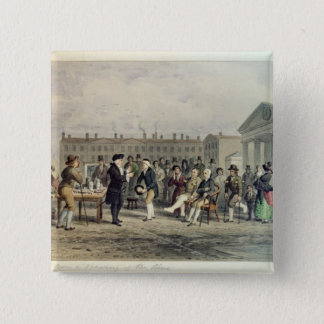 The Quack Doctor, 1857 Pinback Button