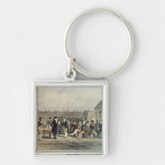 The Quack Doctor, 1857 Silver-Colored Square Keychain