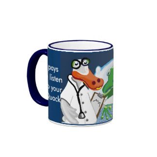 The Quack, or Doctor Duck does his rounds Ringer Mug