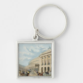 The Quadrant, Regent Street, from Piccadilly Circu Silver-Colored Square Keychain