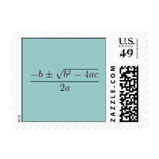 The Quadratic Equation Postage