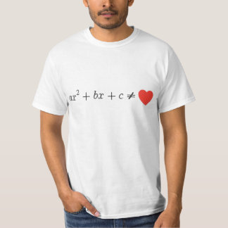 The quadratic equation T-Shirt